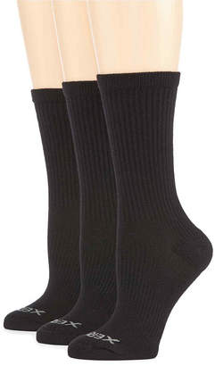 JCPenney Xersion 3 Pack Zone Cushion Crew Sock- Womens