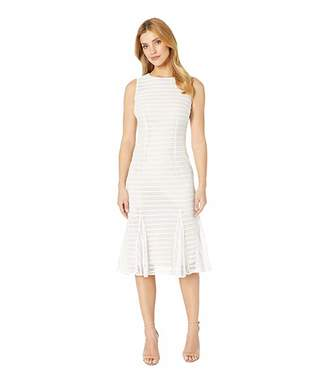 Adrianna Papell Knit Stripe Midi Trumpet Dress