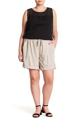Joe Fresh Linen Blend Cuff Shorts (Plus Size)