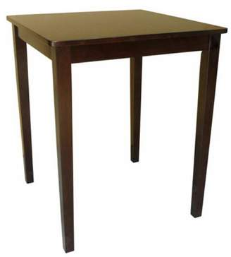 INC International Concepts International Concepts Rives Shaker Styled Counter Height Dining Table - Square with Straight Legs - Rich Mocha