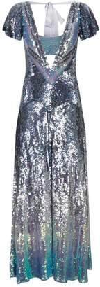 Temperley London Ruth Iridescent Sequin Gown