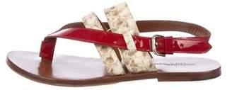 Dolce & Gabbana Snakeskin Slingback Sandals