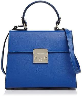 Aqua Top Handle Leather Satchel - 100% Exclusive