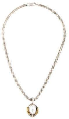 Lagos Two-Tone Pearl Caviar Pendant Necklace