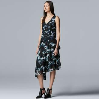 Vera Wang Women's Simply Vera Asymmetrical Ruffle Dress