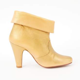 Paul & Joe Gold Leather Ankle boots