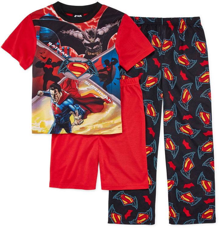 LICENSED PROPERTIES 3-Pc. Batman vs. Superman Pajama Set - Boys 4-12