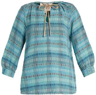 Ace&Jig Rosa checked cotton-blend top