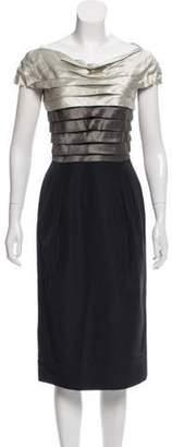 Alberta Ferretti Paneled Sheath Dress grey Paneled Sheath Dress