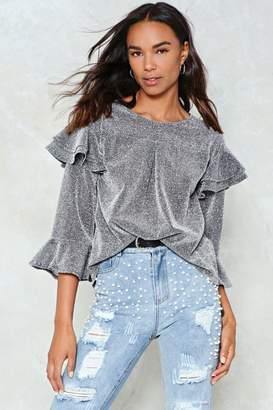 Nasty Gal Northern Star Ruffle Top