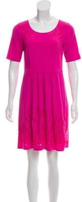 ALICE by Temperley Laser Cut Knee-Length Dress Pink Laser Cut Knee-Length Dress