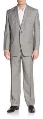 Vince Camuto Modern-Fit Melange Wool Suit