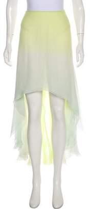 Balmain Ombré Silk Skirt