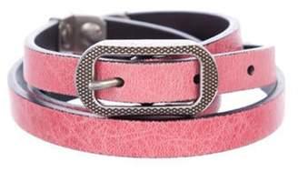 Balenciaga Studded Leather Belt Pink Studded Leather Belt