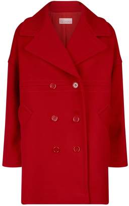 RED Valentino Double-Breasted Cocoon Coat