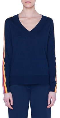 Akris Punto Rainbow Tape Sweater