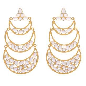 Carousel Jewels - Sliced Crystal Layered Earrings