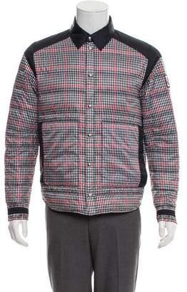 Moncler Gamme Bleu Checkered Down Jacket