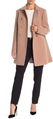 Kate Spade Double Breasted Wool Blend Coat