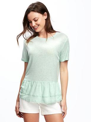 Relaxed Peplum-Hem Top for Women $22.94 thestylecure.com