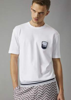 Giorgio Armani T-Shirt With Embroidered Pantelleria Emblem