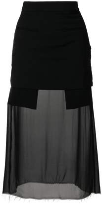 Each X Other sheer panel fitted skirt