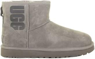 UGG Mini Classic Logo Grey Boots