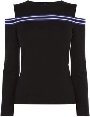 Karen Millen Cold Shoulder Jersey Top