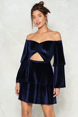 Nasty Gal Hot Date Cut-Out Velvet Dress