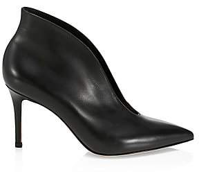 Gianvito Rossi Women's Vania Notched Leather Ankle Boots