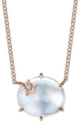 Andrea Fohrman White Mother Of Pearl Mini Galaxy Star Necklace - Rose Gold
