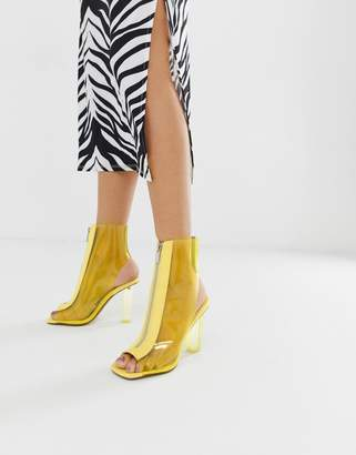 clear Asos Design ASOS DESIGN Energise heeled boots