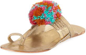 Figue Leo Pompom Metallic Sandal