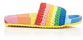 Mira Mikati Women's Rainbow-Striped Knit Slide Sandals