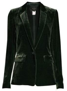 Lafayette 148 New York Women's Lyndon Velvet Blazer - Black - Size 8