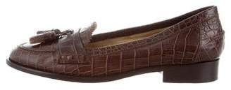 Etro Embossed Leather Loafers