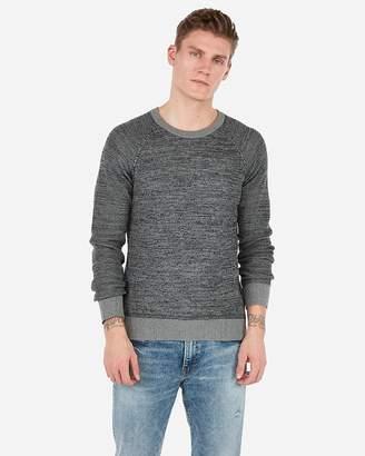 Express Mix Stitch Crew Neck Sweater