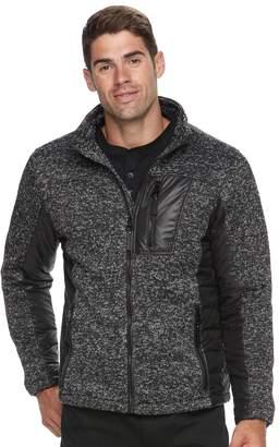 Urban Republic Men's Melange Modern-Fit Fleece Knit Jacket