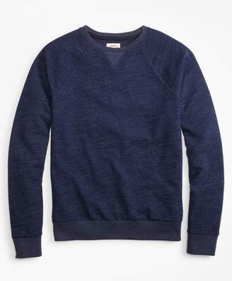 Brooks Brothers Indigo French Terry Crew Sweatshirt