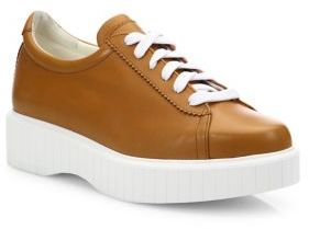 Robert Clergerie Pasketv Leather Platform Sneakers $495 thestylecure.com