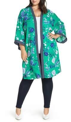 Evans Pattern Mix Kimono