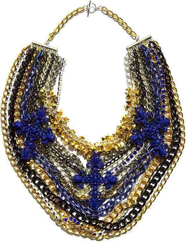 Assad Mounser Starman Collar Necklace, Blue