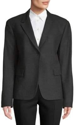 Jil Sander Boxy Wool Silk Blazer