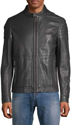 HUGO Racer Leather Jacket