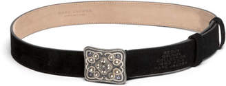Marc Jacobs Christy Thin Leather Embellished Buckle Belt