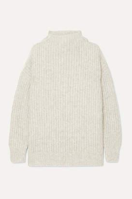 LAUREN MANOOGIAN Fisherwoman Alpaca And Organic Cotton-blend Sweater - Gray