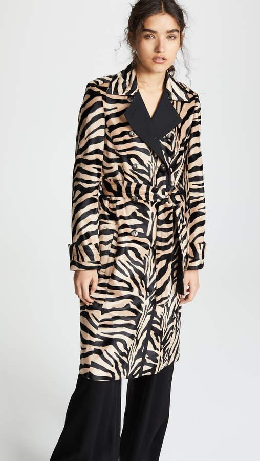 Dazibao Zebra Trench Coat