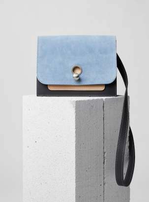 Danielle Foster EDDIE Box Bag in Blue/Grey/Nude