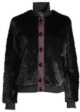 Hunter Refined Faux Fur Bomber Jacket