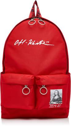 Off-White Monnalisa Dual-Pocket Logo Backpack